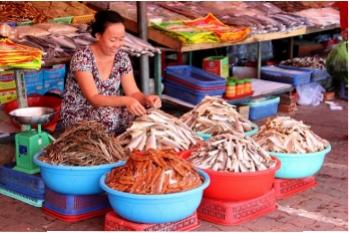 Chợ cá khô 30.000 đồng/kg ở biển Bà Rịa - Vũng Tàu