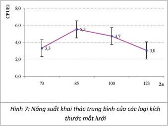 Xác định kích thước mắt lưới rê phù hợp để khai thác cá ngừ chấm tại miền Trung và Đông Nam bộ
