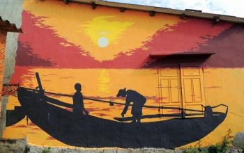 Ngày mới ở làng bích họa Tam Thanh