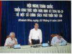 Triển khai thực hiện Nghị định 67/2014/NĐ-CP về một số chính sách phát triển thủy sản