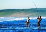 Độc đáo câu cá bờ biển