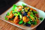Salad tôm nướng