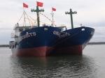 Hạ thủy tàu dịch vụ hậu cần nghề cá vỏ thép công suất lớn ở Quảng Nam