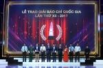 Vinh danh 105 tác phẩm xuất sắc tại Giải Báo chí Quốc gia năm 2017