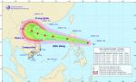 Áp thấp nhiệt đới mạnh lên thành bão Podul, gió giật cấp 10