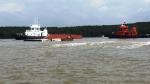 Vụ chìm tàu trên sông Lòng Tàu: Hàng trong các container là thủy sản đông lạnh