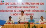 Phó Thủ tướng kiểm tra khắc phục thẻ vàng IUU tại Kiên Giang