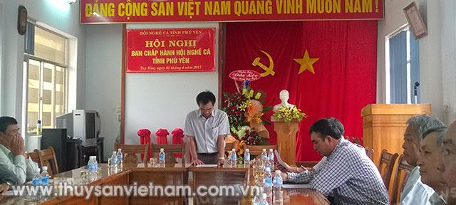 Toàn cảnh buổi Hội nghị tổng kết Hội nghề cá Phú Yên