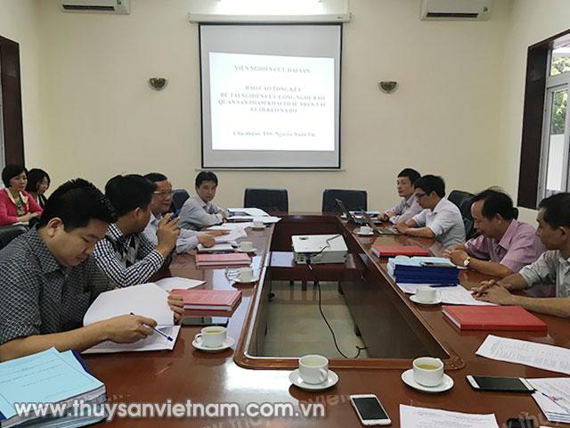 """Toàn cảnh cuộc họp về """"Nghiên cứu công nghệ bảo quản sản phẩm khai thác trên tàu lưới kéo xa bờ"""""""