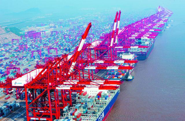 cảng thượng hải trung quốc