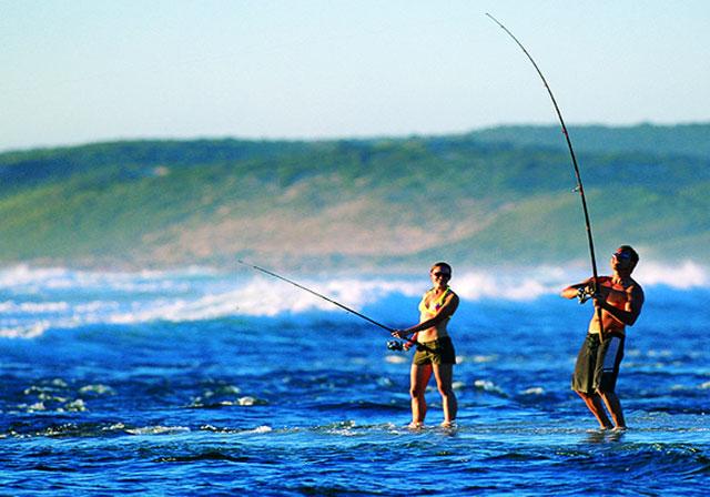 câu cá bờ biển