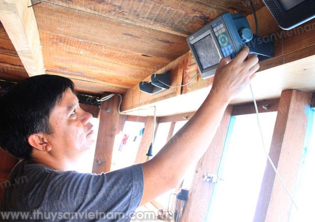 Thiết bị nhận dạng (AIS) lắp đặt trên tàu cá giúp ngư dân khai thác hiệu quả