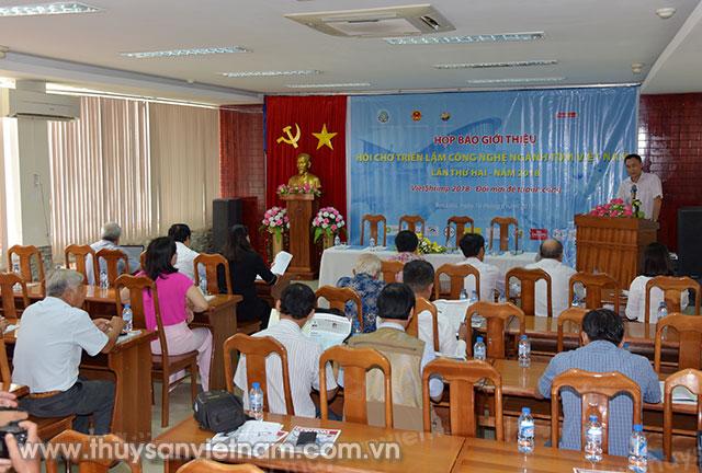 Toàn cảnh buổi họp báo Hội chợ Triển lãm Công nghệ ngành tôm Việt Nam (VietShrimp 2018 - Đổi mới để thành công)