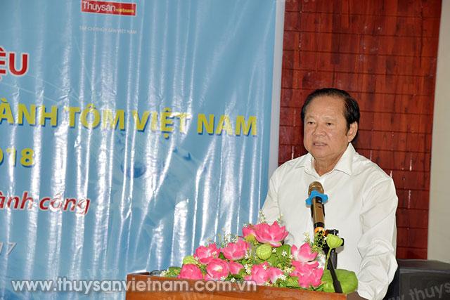 Ông Nguyễn Việt Thắng, Chủ tịch Hội Nghề cá Việt Nam phát biểu tại buổi Họp báo