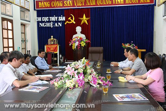 Hội Nghề cá Việt Nam và Tạp chí Thủy sản Việt Nam làm việc tại Chi cục Thủy sản Nghệ An